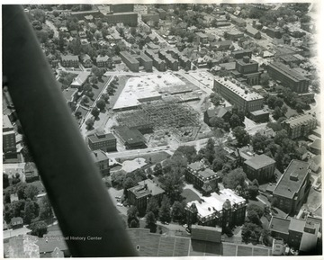 Mountainlair under construction dates the photograph to the summer of 1966.