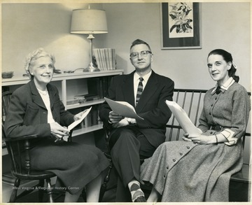 'Left to right: Beatrice Hurst, Pete Yost, Wincie Carruth.'