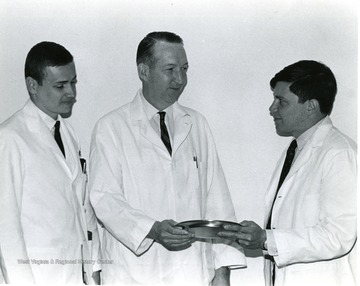 Left to right, Dr. Boso; Dr. Morgan, Dr. Ravitz.
