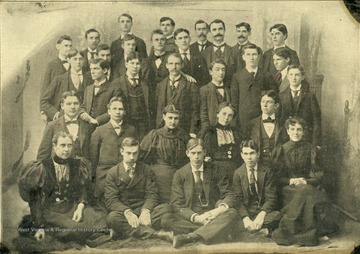 The Society was formed in 1852, 15 years before the University was established. Meetings were held at the Monongalia Academy, near the site of the WVU campus.  No members are identified.