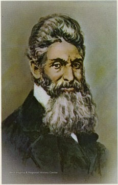A postcard with caption, 'John Brown, from a water color, as he looked at the time he was tried.' Grafton Souvenir, Grafton, W. Va.
