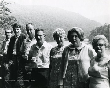 'Second from left - Jack Welch, Fourth from Left - Guy Owen, Last from Left - Georgia Hester.'