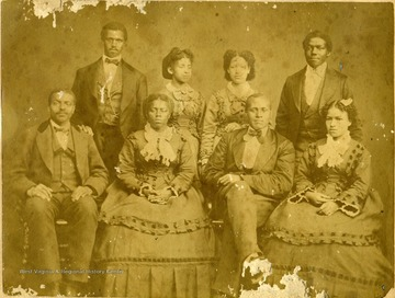 From left to right in the upper row standing is Robert Trent, Portia Lovett, Mary Ella Dixon, and Charlie Hale. Sitting from left to right is Walter Johnson, Alberta Redmond, Hamilton Keys, and Mertia Lovett. First concert was given in Buffalo, N.Y., May 2, 1873. They gave 40 concerts in the principal cities between Buffalo and Utica, going home, July 5, 1873.