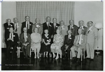 The class of 1909, Emeritus club reunites in 1959; Mr. Grumbein seated at front far left.