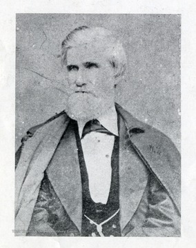 A portrait of unidentified man: he is possibly connected to C&O Shop Employees Car E13 and/or Westward Ho used in Virginia Central in images 025724 and 025725.