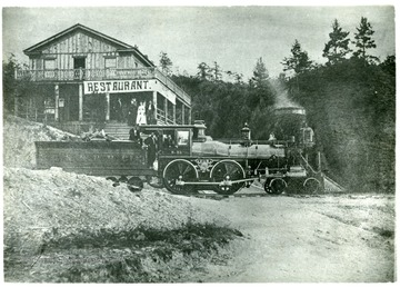 "'C. & O. R.R. Locomotive #32; Builder Name--Danforth Loco, Co. placed in service 1870.  Cylinders 16"" x 24""; weight of engines with three gauges of water 61650 pounds;  Diam drivers 60:; dimensions of fire box 58 1/2 feet by 35 feet by 60 1/2 feet; No. of Flues 149; Diam of flues 2 inches; length of flues 11 feet, 1 inch; Diam of Boiler 46 7/8 feet; Service Passenger.'"