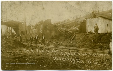 Number 8 Fan House after the explosion.