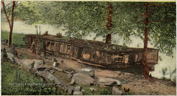 The old packet boat 'as it looks to-day', on which the remains of 'Stonewall' Jackson were carried from Lynchburg to Lexington, W. Va. Postcard to: Miss Eva Thanks Nickell, Sinks Grove, W. Va.; From: Virgil; Date: September 11, 1907