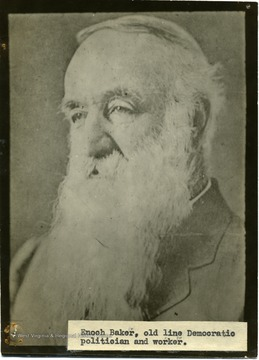 'Enoch Barker, old line Democratic politician and worker.'