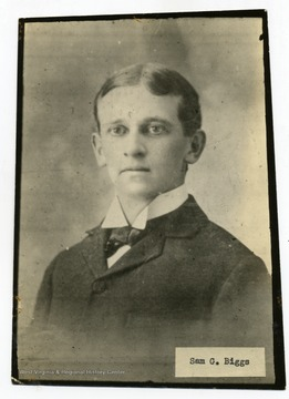 Sam G. Biggs at the age 18.