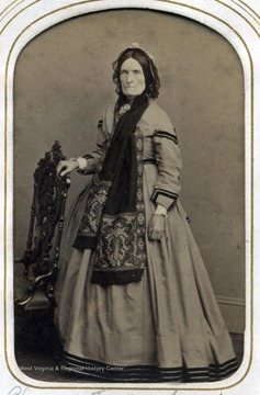 Portrait of Elizabeth Jackson from the George W. Jackson family photo album.