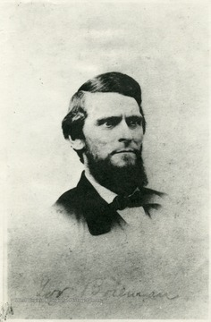 Born in Waynesburg, Pa. July 24, 1823. His parents moved to Middleborne, Tyler County at the age of 4. Studied law with his brother and brother-in-law and admitted to the bar in Parkersburg at the age of 20. Lived at Wheeling when Governor of W. Va.