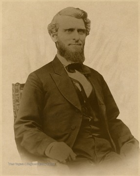 Born in Waynesburg, Pa. July 24, 1823. His parents moved to Middleborne, Tyler County at the age of 4. Studied law with his brother and brother-in-law and admitted to the bar in Parkersburg at the age of 20. Lived at Wheeling when Govenor of W. Va.
