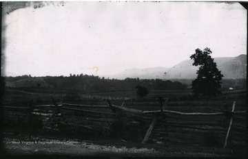 Gen. no. 94, neg. by W, No. 36. Wednesday 8:45 A.M. Massamitten Mountains and Thoburn's Camp.