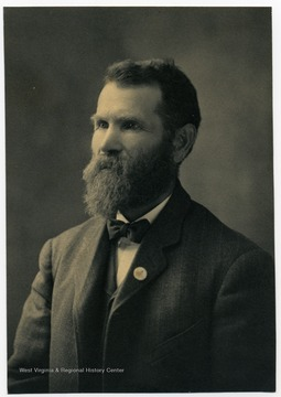 "Portrait of John Zachariah Ellison (1840-1934).  Born in Jesse Ellison House, member of the Ellison-Dunlap family and served in the Confederate Army, Lowry's Battery (also called ""Centerville Rifles""), during the Civil War."