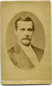 A portrait of Rev. A.F. Grayhill from the Ellison-Dunlap families of Monroe County.