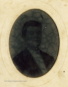 A tintype portrait of G.C. Updegraff, from the Ellison-Dunlap families collection, Monroe County.