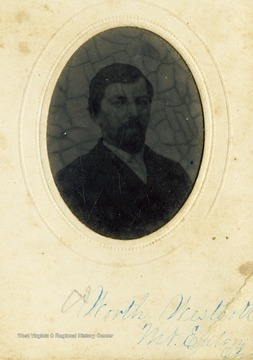 A portrait of Worth Westcott from the Ellison-Dunlap families collection, Monroe Counties.