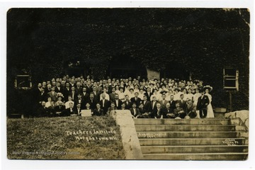 In front of Stewart Hall; August 30 to September 3, 1909.