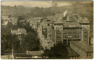 View of Waldomore and Waldo Hotel looking towards Glen Elk.
