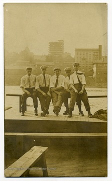 Five unidentified men on East Side looking to Fairmont West Virginia.