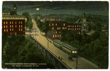 A night scene of Fairmont Avenue.