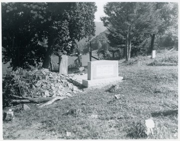 Myers was West Virginia Poet Laureate from 1927 to 1937. His remains are buried in an unknown grave in an IOOF cemetery near Elkins. The people of Tucker County, determined to honor Myers, raised money to place this monument near the Myers family graves in Moore Cemetery. A bucket of dirt from the immediate area of where Karl Myers is thought to be buried was placed in his plot with the monument.
