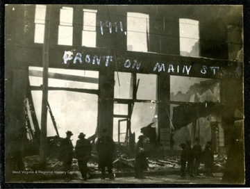A view of Front on Main Street after the fire of 1911, Clarksburg, W. Va.