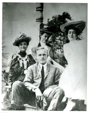 From left to right, top row: Gypsy Fleming Ward, Ida Fleming Miller, Virginia Fleming and Bottom row: Brooks Fleming, Jr. at Oak Hall, A. B. Fleming's summer home in Oakland Maryland.
