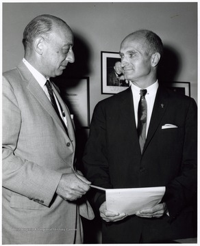 A photograph of Louis Rothschild (left) and Senator Hoblitzell, Jr. (right).