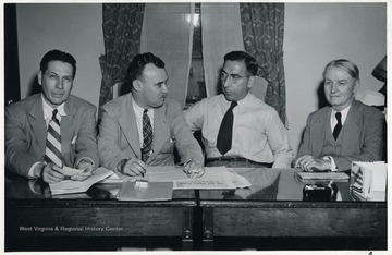 From left to right Walker Long; Max Fullerton; Thomas O'B. Flynn and Hugh Ike Shott.