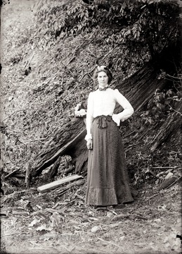 A portrait of woman taken outdoor in Helvetia, W. Va.