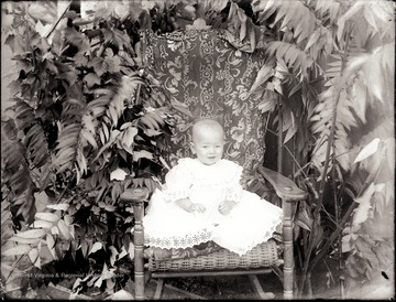 A portrait of infant in Helvetia, W. Va.