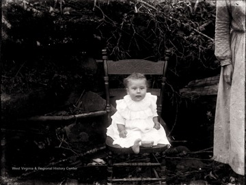 A portrait of infant seated, Helvetia, W. Va.