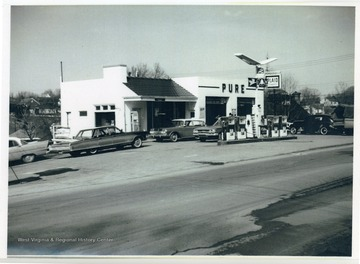 The Pure Oil Station on the corner of Rt. 50 and Virginia Avenue.