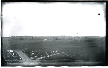 A region about Dunker Church from National Cemetery.  The photo was taken on August 5, Tuesday about 5:30pm.  D.87.I.C.