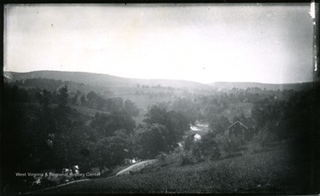 A view of Antietam Burnsides stone bridge from the west side looking South East; the photo was taken Wednesday 9:10 am.  94 D. I. C., 155.