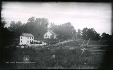 A view of Antietam, Dunker Church looking from south east.  The photo was taken on Wednesday at 7:30 pm.  100 D.I.C, 171.