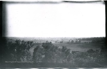 A view of Antietam from Pry House, McClellan's headquarters; monuments in cemetery can be seen with magnifier on left horizon; the photo taken on Wednesday at 4:40 pm.