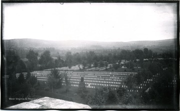 A view of Antietam: South East from National Cemetery towards Burnside Bridge; the photo taken on Tuesday at 5:45 pm; 154.D.90.I.C.