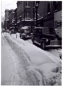 A great snow fall during the week of Thanksgiving in 1950, Clarksburg, W. Va.