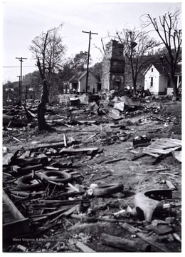 A view of Mount Clare after the tornado destroys the town, W. Va.