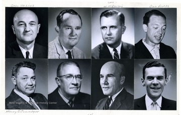 Top left: Dean Nesius; third from top left: Gov. W. W. Barron; Top right: Don Knotts; Bottom left: Henry S. Commager.