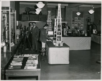'Petroleum Engineering students at work in the petroleum and natural gas laboratory in the School of Mines'