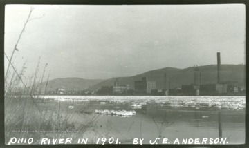 The icy Ohio river in Winter of 1901.