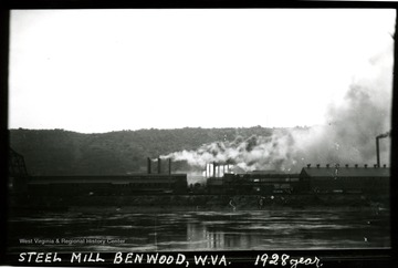 A steel mill on the river bank at Benwood, W. Va.