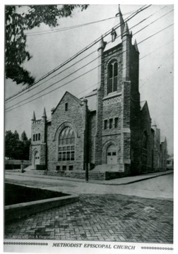 The church stands on the corner of High and Wiley Streets.