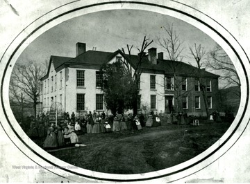The building was located where Woodburn Hall stands now.