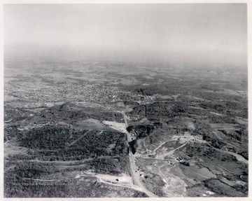 View prior to construction of Interstate 79 which now runs in the area at the bottom of this photograph.