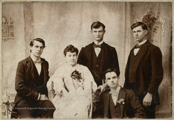 'Miss Ella Neuzum(Taylor County), Mr. Ceorder (Barbour County), Mr. Benson (Barbour County), Mrs. Dawson(Harrison County) and Mr. Ladwig (Harrison County)